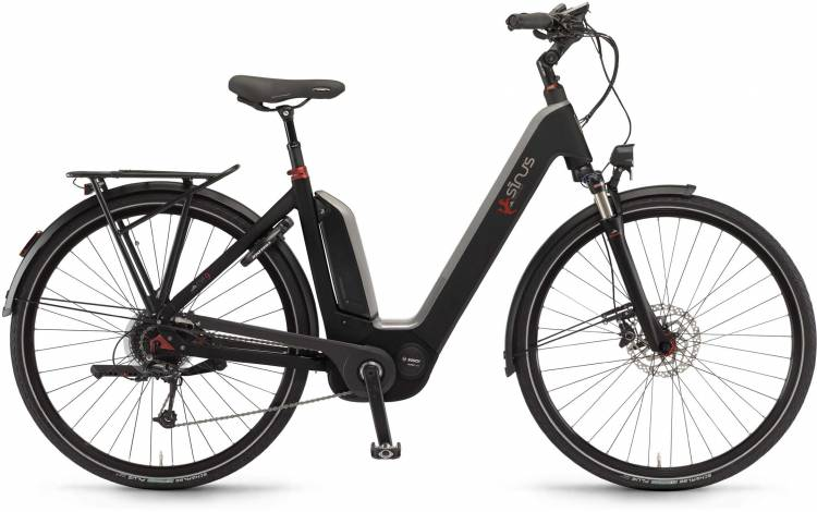 "Sinus Ena9 500Wh 28"" schwarz matt 2017 - Touring E-Bike Easy Entry"