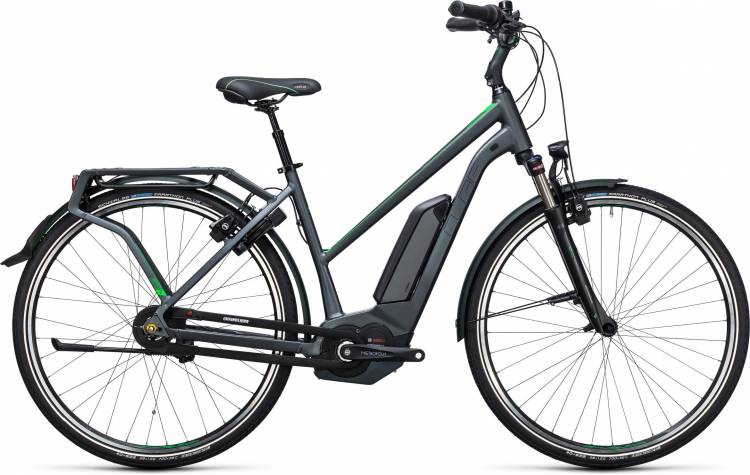 Cube Travel Hybrid Pro 500 grey n flashgreen Damen Trapez 2017