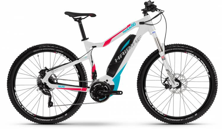 Haibike SDURO HardLife 6.0 500Wh weiß/peach/cyan 2017 - E-Bike Hardtail Mountainbike Women