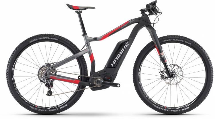Haibike XDURO HardNine Carb. 10.0 500Wh carbon/anthr./rot matt 2017 - E-Bike Hardtail Mountainbike