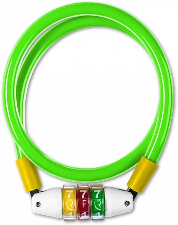 RFR cable lock Style CMPT green n yellow