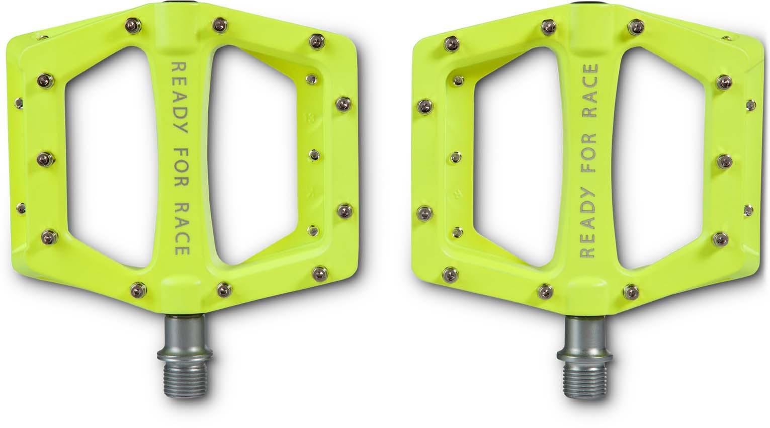 RFR pedales Flat HQP Race Black bicicleta pedales anti-slip pins; reflectores