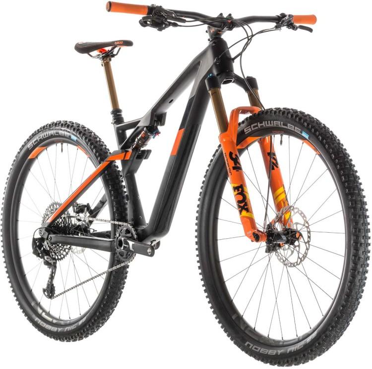 ecce8234d18 Cube AMS 100 C:68 TM 29 grey n orange 2019 Mountainbike Fully ▷ buy ...