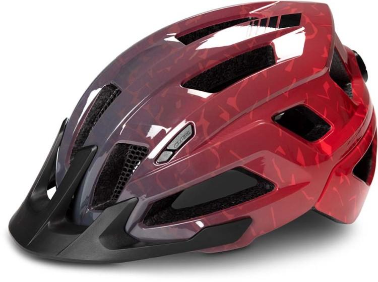 Cube Helm STEEP glossy grey n red