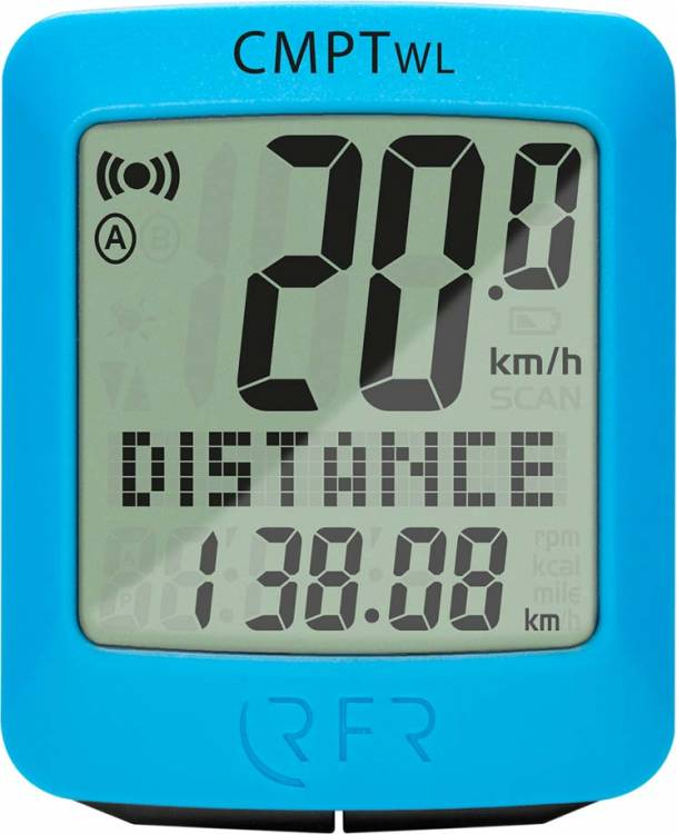 RFR bicycle computer wireless CMPT blue