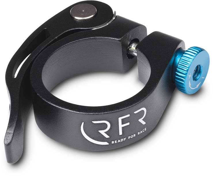 RFR saddle clamp with quick release 31,8 mm black n blue