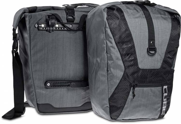 Cube bicycle bag TRAVEL (pair) anthracite