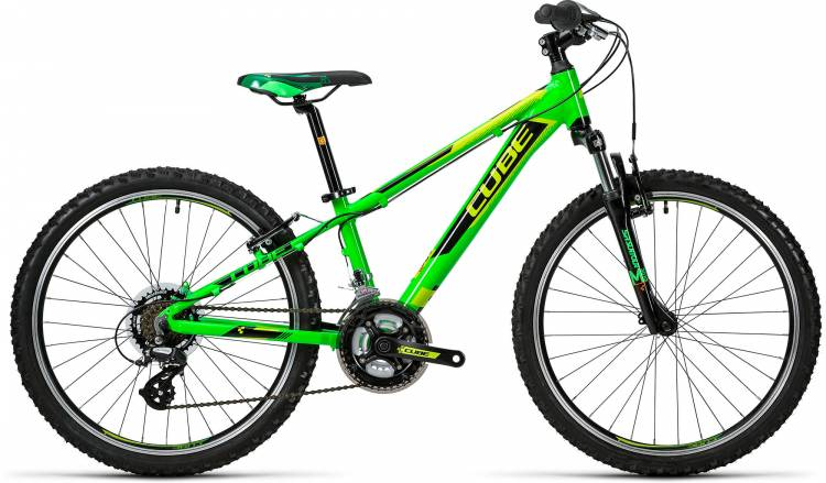 Cube Kid 240 green n black 2016 with damages in paintwork