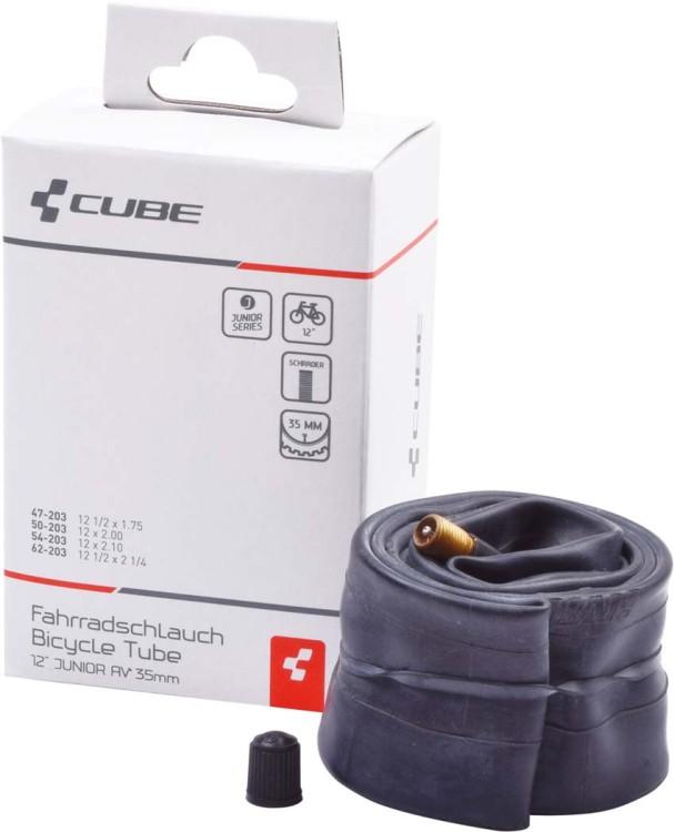 """Tube 12"""" JUNIOR/MTB AV 35mm black"""
