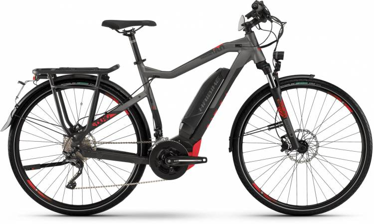Haibike SDURO Trekking S 8.0 500Wh black/titan/red dull - Men 2020