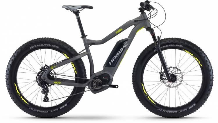 Haibike XDURO FatSix 6.0 500Wh titan/anthr./lime matt 2017 - E-Bike Hardtail Fatbike