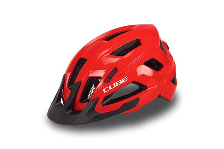 Cube helmet STEEP glossy red