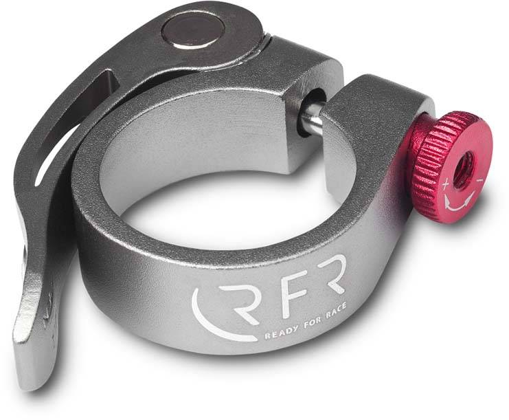 RFR saddle clamp with quick release 34,9 mm grey n red