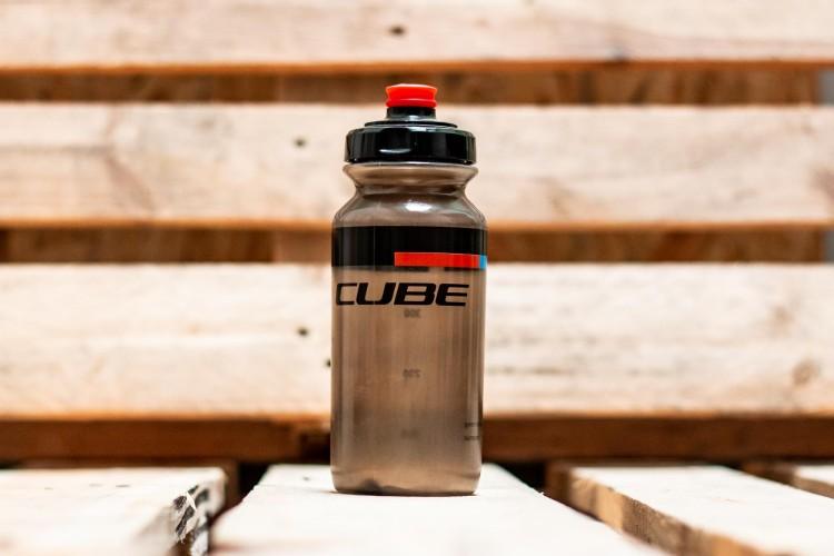Cube drinking bottle 0.5l TEAMLINE black n red n blue