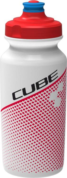 Cube Trinkflasche 0,5l TEAMLINE white n red
