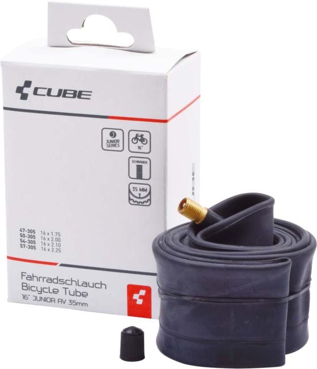 """Tube 16"""" JUNIOR/MTB AV 35mm black"""
