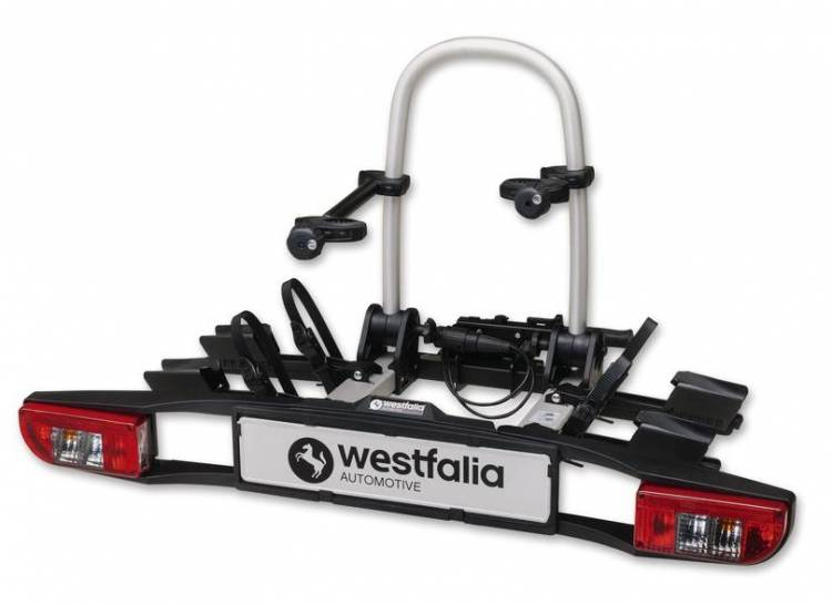 Westfalia bicycle rack bikelander classic - 2-person bicycle rack for the trailer hitch
