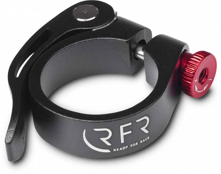 RFR saddle clamp with quick release 34,9 mm black n red